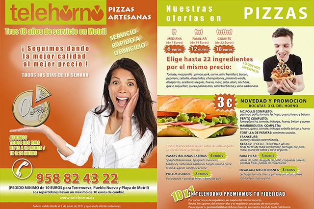 Folleto pizzería Motril